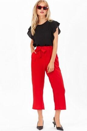Arma Life Bol Paça Kuşaklı Pantolon - Kırmızı