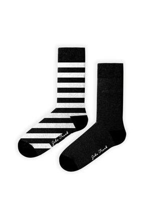 JOHN FRANK Women Ikili Uzun Çorap Multıcolor