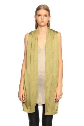 Just Cavalli Önü Yelek Modelli Uzun Yeşil Triko