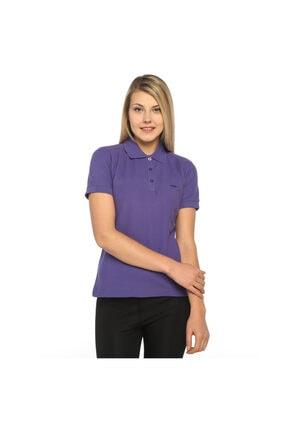 Sportive Basic Kadın Mor Günlük Stil Polo Tişört 100836-lıl