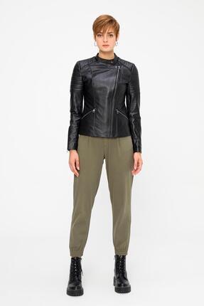Deri Company Kadın Hakiki (Gerçek) Deri ceket  Mia Siyah 211519