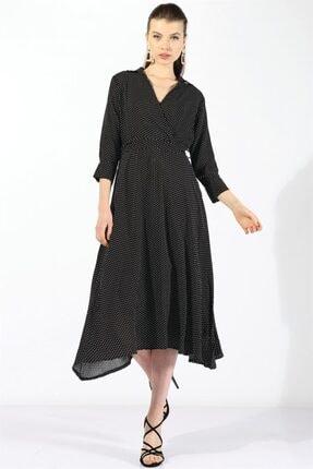 Twister Jeans Kadın Bayan Siyah Puantiyeli Elbise 60806 Sıyah