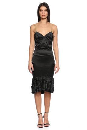 Just Cavalli Siyah Altın Rengi Elbise