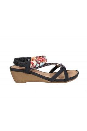 Guja 20y151-3 Ortopediik Siyah Kadın Sandalet