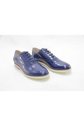 İnci Bayan Lacivert 37 Numara Hakiki Deri Klasik Ayakkabı