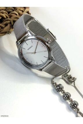 Homies Kadın Gümüş Kol Saati+Bileklik