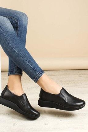Fast Step Kadın Siyah Hakiki Deri Casual Ayakkabı 888za291