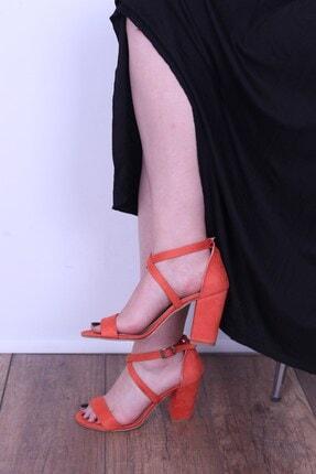 Derigo Turuncu Kadın Topuklu Sandalet 196302