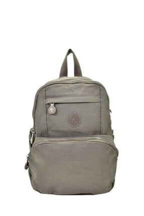 Smart Bags Krinkıl Kumaş Kahve Bayan Sırt Çantası 1083