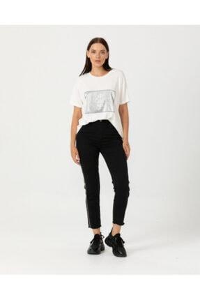 Seçil Kadın Şeritli Denim Pantolon