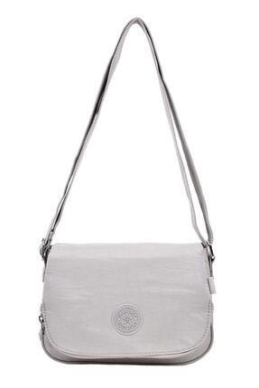 Smart Bags Kapaklı Çapraz Çanta Gri 3056