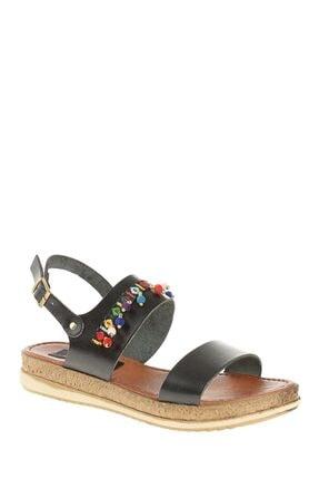 Derigo Siyah Kadın Sandalet 52504