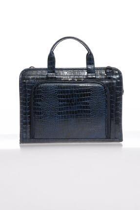 Sergio Giorgianni Luxury Sg071219 Kroko/lacivert Unisex Evrak Çantası