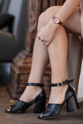 Mio Gusto Daisy Siyah Topuklu Ayakkabı