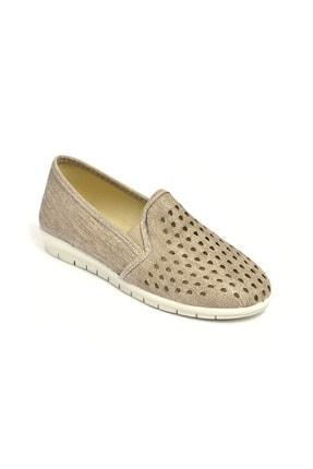 David Jones Kadın Lazer Kesim Ayakkabı Vizon