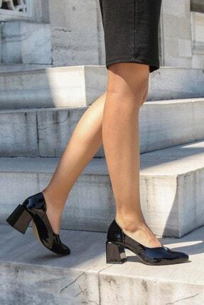 Fast Step Hakiki Deri Siyah Rugan Kadın Kalın Topuklu Terlik 064za793