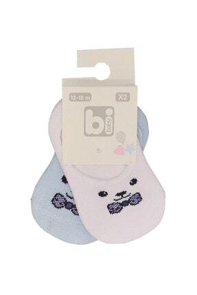 Bibaby Cool Kız Erkek Bebek Kokulu Pamuklu 2'li Babet Çorap