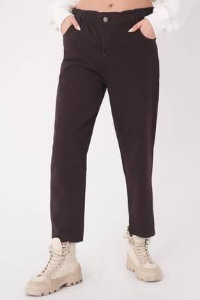 Addax Kadın Çikolata Cep Detaylı Pantolon Pn4385 - Pnu ADX-0000023559