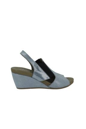 Hobby Mavi Deri Yazlık Kadın Ayakkabı Ss301