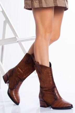 derithy Kadın Taba Lavonne Garni Çizme bls7500
