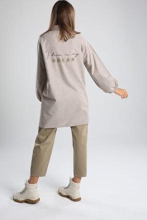 ALLDAY Bej Arkası Nakışlı Gömlek Tunik