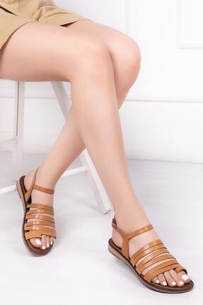Deripabuc Hakiki Deri Taba Kadın Deri Sandalet Rma-2162