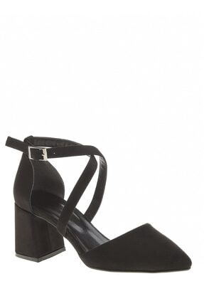 Derigo Siyah Süet Kadın Sandalet 392701