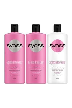 Syoss Saç Dökülmesine Karşı Şampuan 500Ml X 2 Adet + Saç Kremi 500 Ml