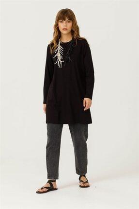 Seçil Kadın Siyah Uzun Kollu Basic Tunik