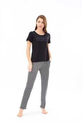 PJS PİJAMA 22165 Kadın Desenli Pijama Takım