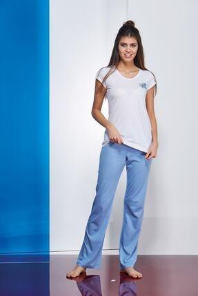 PJS PİJAMA Kadın Mavi Pijama Takımı 2'li