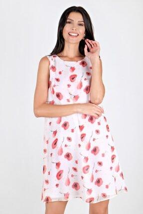Spazio Julie Şifon Desenli Elbise