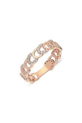 Pink Gold Store Ferro Di Cavallo 14 Ayar Altın Yüzük