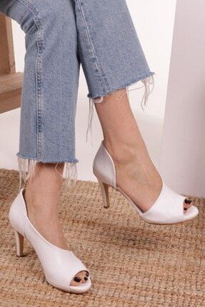 Mio Gusto Erin Beyaz Topuklu Ayakkabı