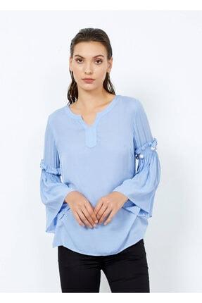Cazador Kadın Mavi Kol Inci Detaylı Bluz