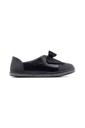 Punto 373015 Kadın Günlük Ayakkabı-siyah Simli
