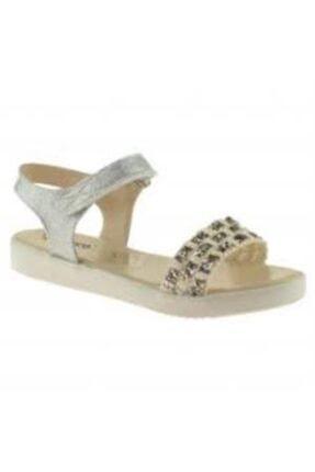 Vicco Bebe Cırtlı Gümüş Simli Sandalet