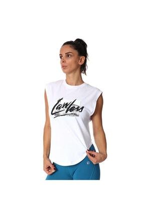 Sportive Kadın Beyaz Tişört 711033-byz