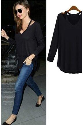 Boutiquen 10269-v Yaka Japon Style Siyah Bluz-1