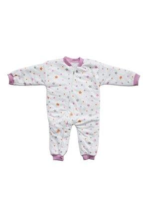 bebegen Gri Pembe Yıldızlı Kız Çocuk Uyku Tulumu