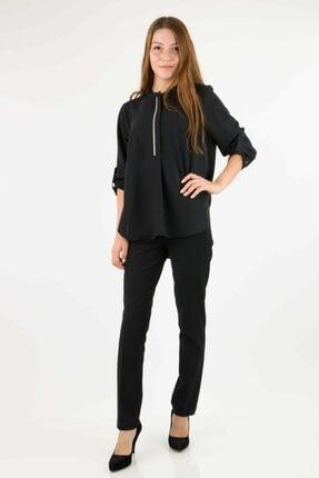 Ayhan Ahn 81423 Patlı Bluz-siyah