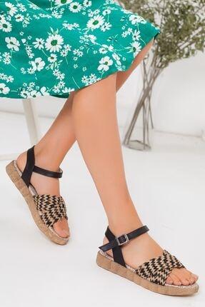 derithy Kadın Siyah Sandalet