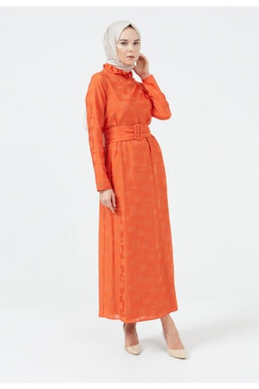 Setrms Fırfır Yaka Kemerli Elbise