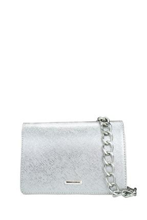 Housebags Kadın Gümüş Zincirli Çapraz Çanta 169