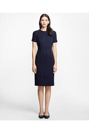 Brooks Brothers Kadın Lacivert Kısa Kollu Elbise