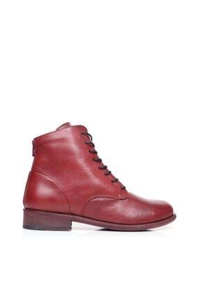 Bueno Shoes Bağcık Ve Fermuarlı Hakiki Deri Kadın Düz Bot 9p0100