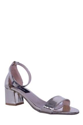 Derigo Altın Ayna Kadın Topuklu Sandalet 19639
