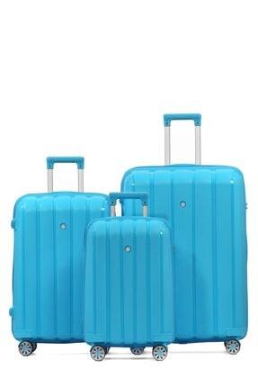 Cengiz Pakel Policarbon 3lü Valiz Seti 20305-set-a.mavi