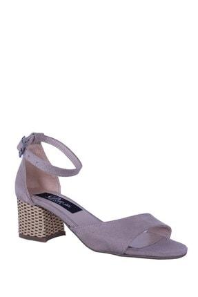Derigo Ten Süet Kadın Topuklu Sandalet 196303