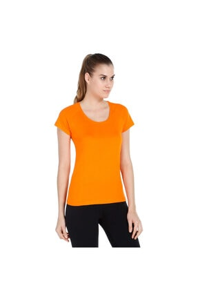 Sportive Supnecku Kadın Sarı Günlük Stil Tişört 400210-org